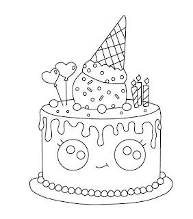 דפי צביעה עוגות יומולדת
