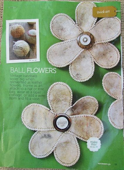 baseball flowers tutorial inspiration