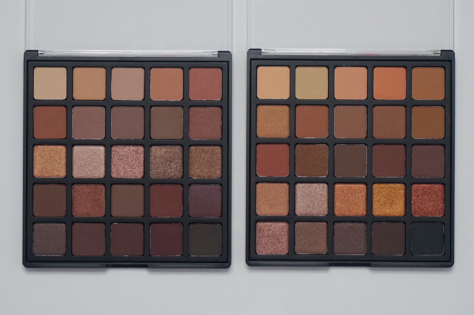 Zoom of Morphe palettes