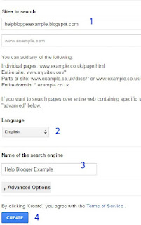 google custom search for blogger
