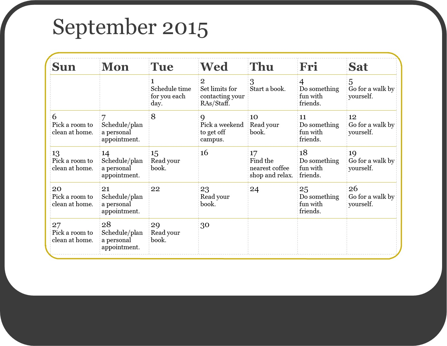 Add Calendar Days Add Or Subtract Days From Date Calendar 12 30 Days Of Self Care Glacuho Health And Wellness Committee