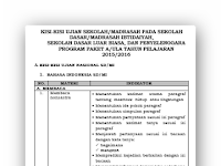 Download Kisi-kisi Soal Ujian Nasional (UN) SD/MI dan Sederajat Tahun Ajaran 2015-2016