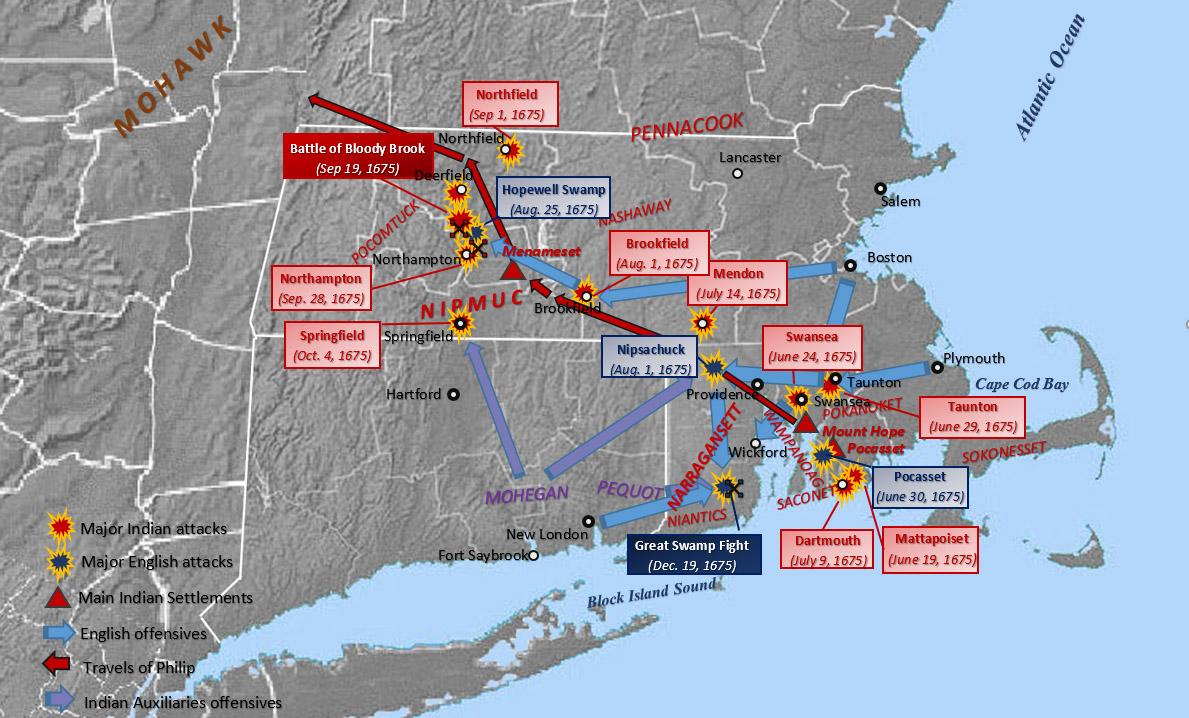 US Timeline 1675 King Philips War 1