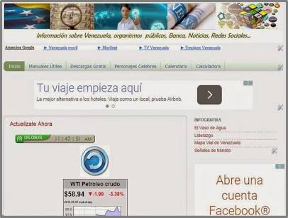 """""""Información de Venezuela, Organismos Públicos, precio del dolar, economía, politica"""""""