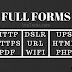Full Form Of HTTP   HTTPS   PDF   PHP   GIF   DSLR   URL   WIFI   UPS   HTML