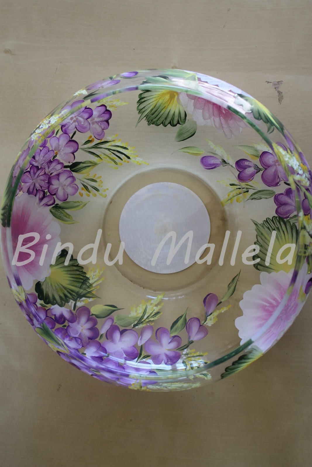 Crazy For Colors Hand Painted Glass Bowls