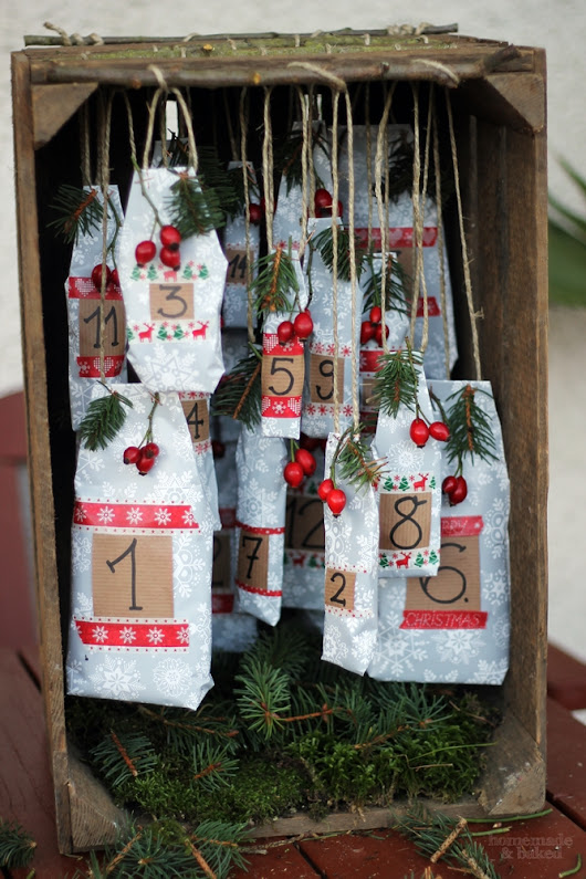 DIY Adventskalender: rustikal mit alter Obstkiste