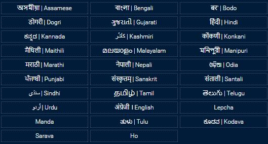 भारतीय भाषाओँ में ज्ञान