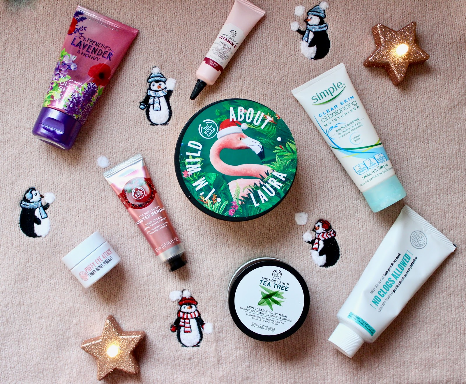 Products from The Body Shop, Bath&Body Works and Soap&Glory