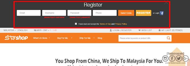 Register SGShop