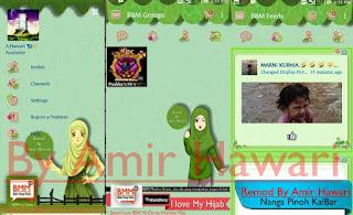 BBM MOD BBM Muslimah Green Edition v2.12.0.9 APK Terbaru