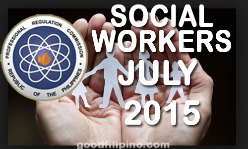 July 2015 Social Worker Board Exam Results - PRC List of Passers (July 2015)
