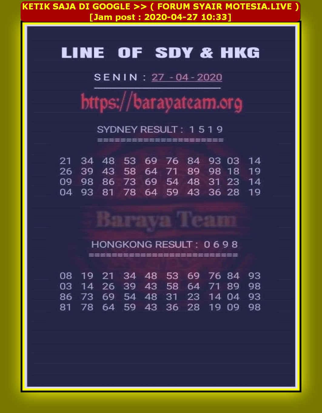 Baraya team matot 27 juli 2020