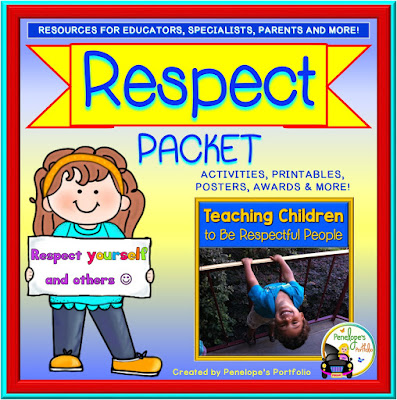 A respect packet including worksheets, printables, posters, and activities