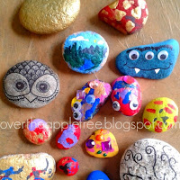 Painted Rocks by Over The Apple Tree