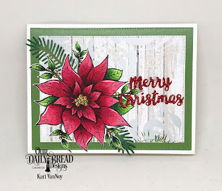 Our Daily Bread Designs Stamp/Die Duos: Merry Christmas, Paper Collection: Christmas 2018, Custom Dies: Pierced Rectangles, Pine Branches, Holiday words