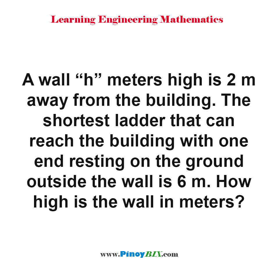 How high is the wall in meters?
