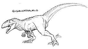 Dinosaur Coloring Pages Giganotosaurus