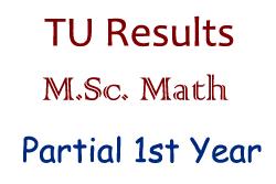 M.Sc. Math 1st Year Partial Exam Result - Tribhuvan University