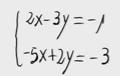 1 Sistema lineal de dos ecuaciones y dos incognitas. (Sustitución)