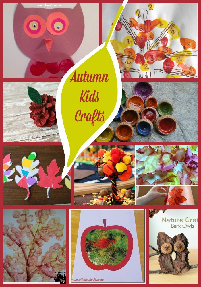 Autumn Crafts for Kids on Mom's Library