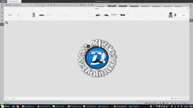 Editor de imagens contida no editor de textos OnlyOffice