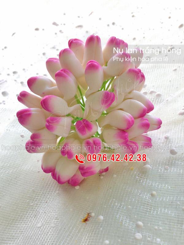 Nụ lan đất trắng hồng | Phụ kiện hoa pha lê