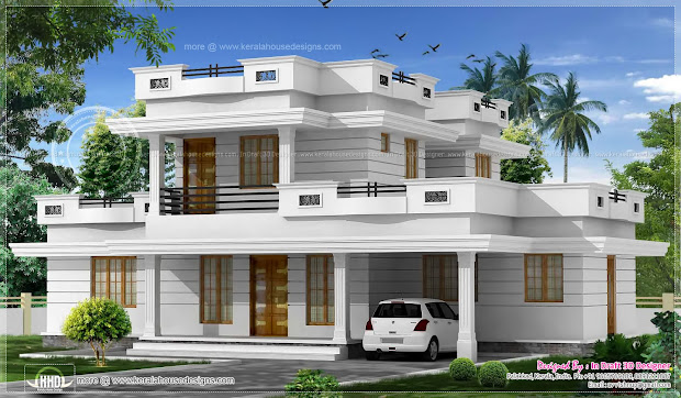 3 Bed Room Flat Roof Villa With Courtyard 2172 Sq-ft