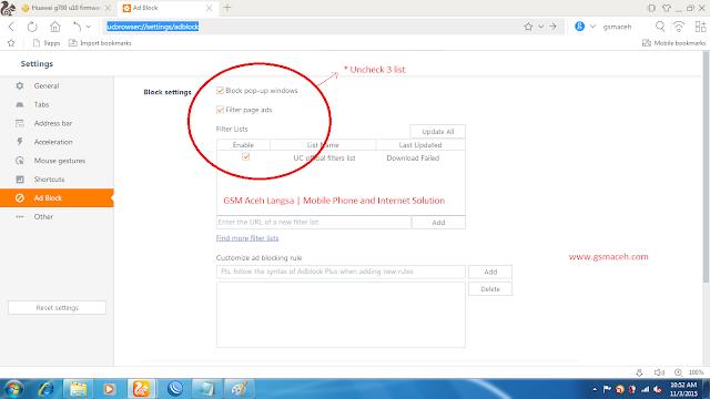 cara menonaktifkan adblock di uc browser