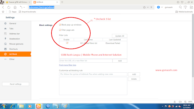 How to enable adblock in uc browser pc