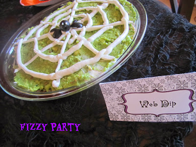 Halloween food, web dip, Halloween party