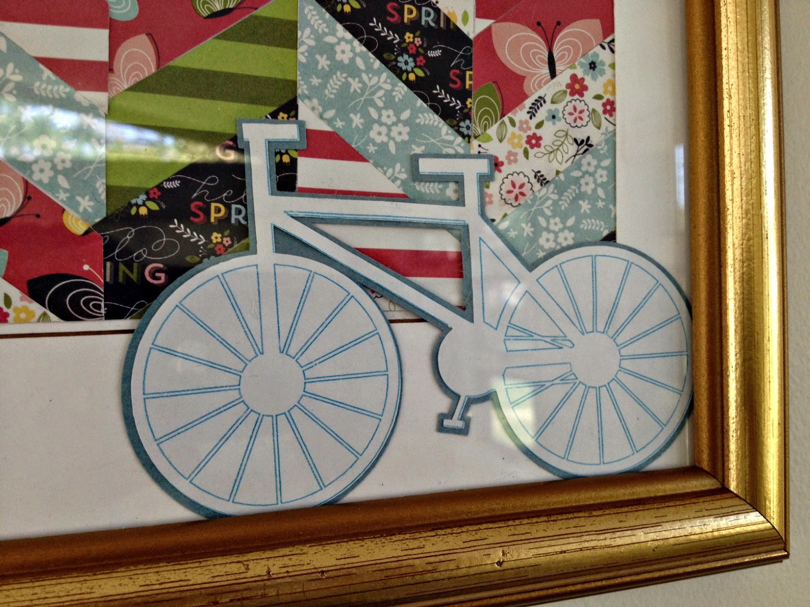Spring Chevron, bicycle art, Silhouette