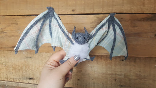 My Little Fabric Sculpture Bat by Molly Burgess Designs