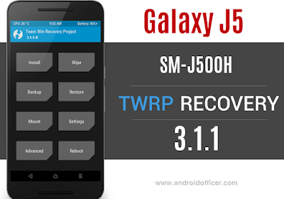 TWRP Recovery for Galaxy J5 SM-J500H