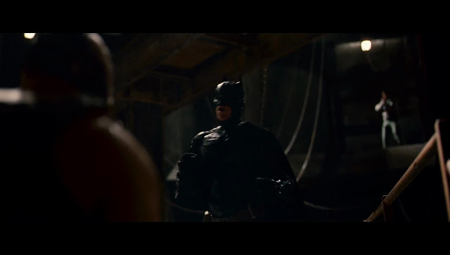The Dark Knight Rises Batman and Bane fight in a sewer