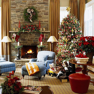 Cómo decorar chimeneas navideñas