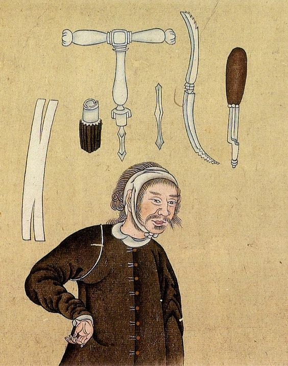 Japanese Anatomical Illustrations of trepanation