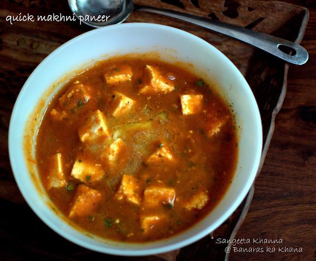 easy and quick makhni paneer recipe