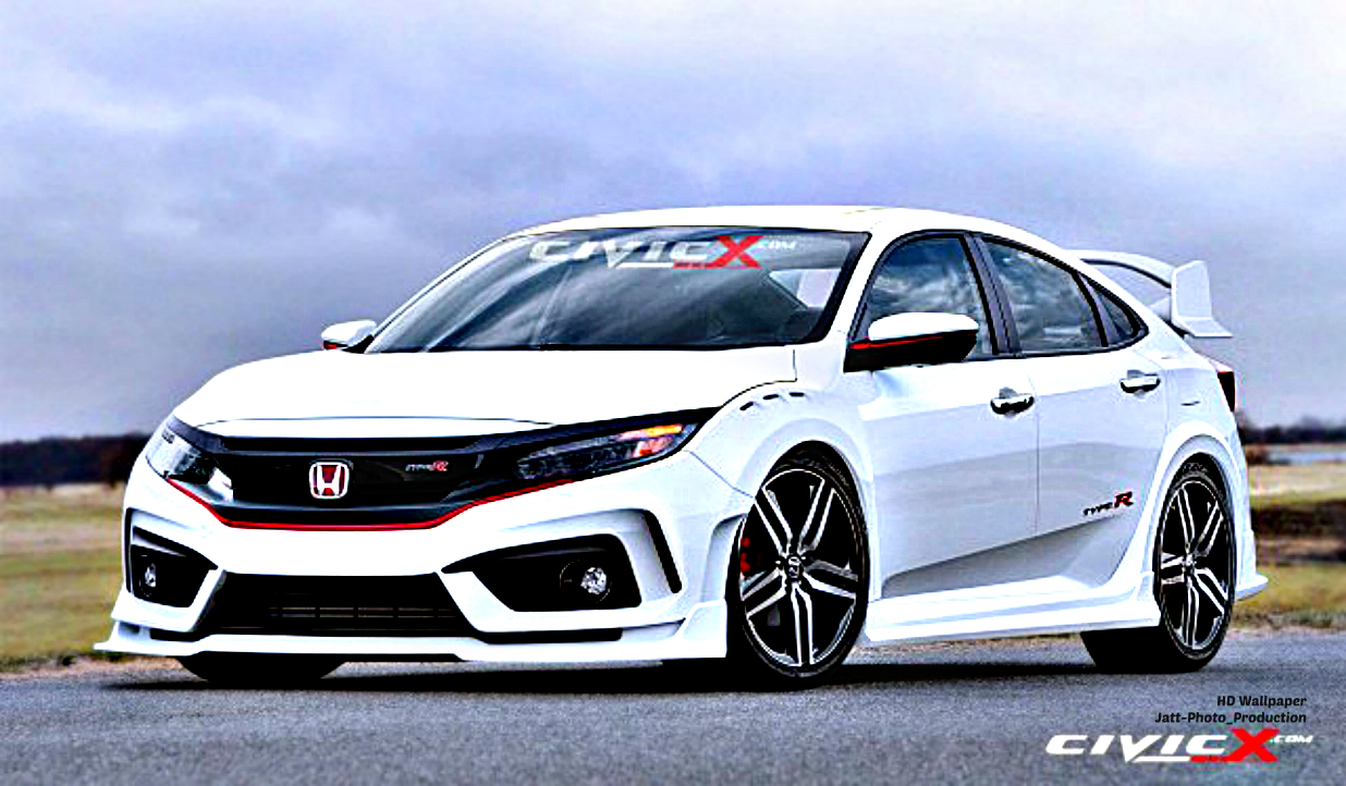 hd wallpaper 10 modefied honda civic hd 2017 turbo type r. Black Bedroom Furniture Sets. Home Design Ideas