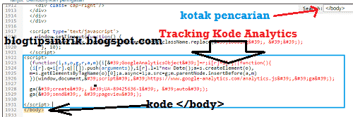 Cara Pasang Tracking Kode Google Analytics