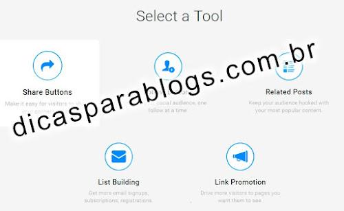 colocar botões de compartilhamento no site ou blog