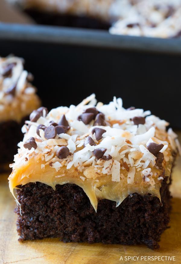 Samoas Texas Sheet Cake Food And Cake Recipes