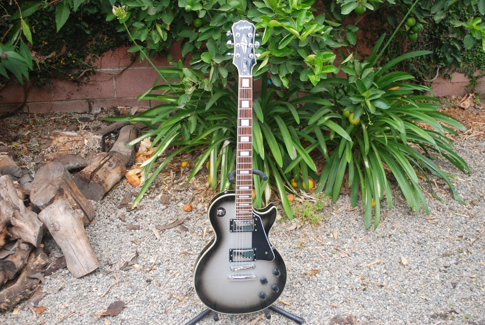Rex and the Bass: 2008 Epiphone Les Paul Custom Silverburst