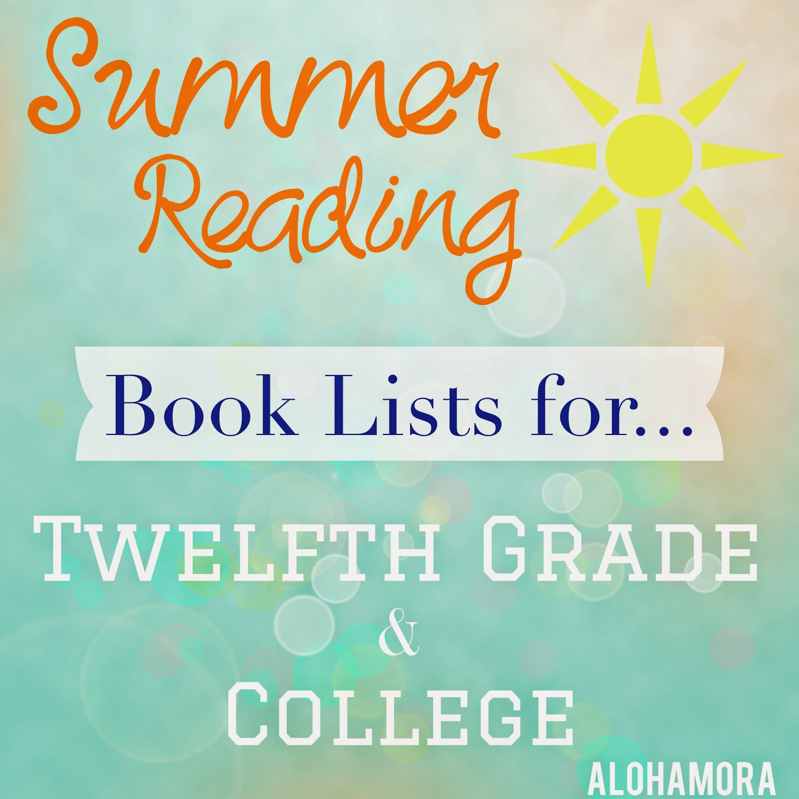 Alohamora Open A Book Summer Reading Book Lists For