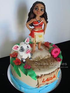 moana cake pig