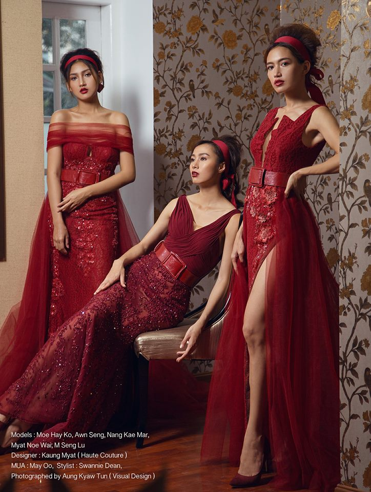 MODA's Angels Shows Off In Red Fashion Outfit In Style