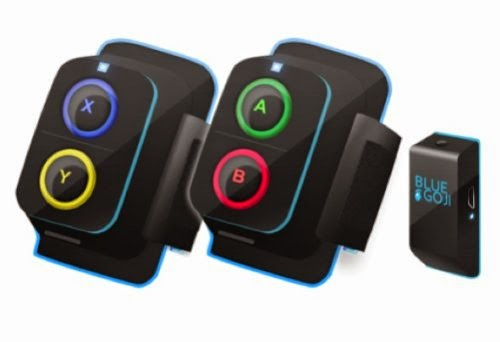 Goji Play Game Controllers can be mounted on your equipment & wireless Activity Sensor can be clipped on clothing or placed in pocket to incorporate movement into your game