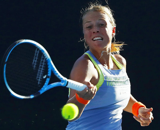 HD Photos of Anett Kontaveit At Australian Open Tennis Tournament 2018 In Melbourne