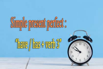 simple present perfect tense