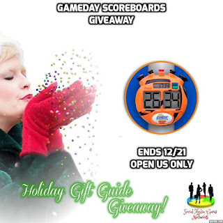 Enter the GameDay Driveway Basketball Scoreboard Giveaway. Ends 12/21